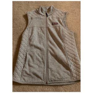 Vineyard Vines women's gray quilted vest size S